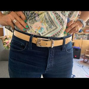 Brighton croc leather belt with gorgeous buckle